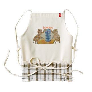 Jambo Kenya Elephant Custom Zazzle HEART Apron
