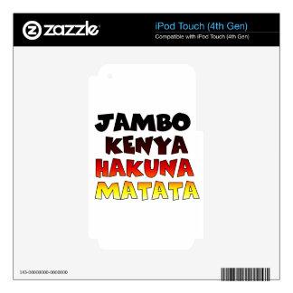 Jambo Kenya Hakuna Matata Decals For iPod Touch 4G