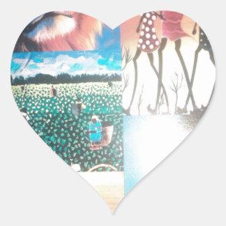 Jambo Kenya Hakuna Matata Heart Sticker