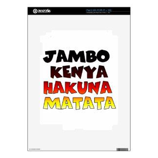 Jambo Kenya Hakuna Matata iPad 2 Decals