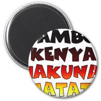 Jambo Kenya Hakuna Matata Magnet