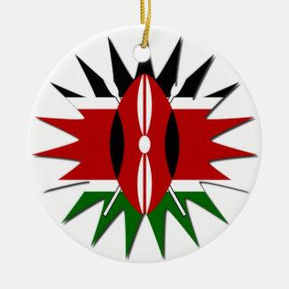 Jambo Kenya Hakuna Matata Double-Sided Ceramic Round Christmas Ornament