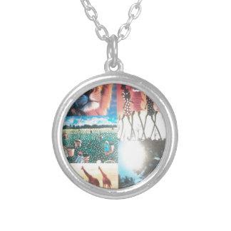Jambo Kenya Hakuna Matata Silver Plated Necklace