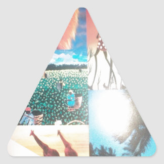 Jambo Kenya Hakuna Matata Triangle Sticker