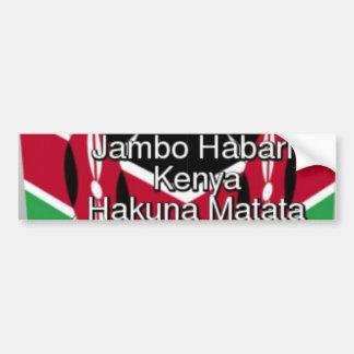 Jambo Kenya Hakuna Matataundefined Bumper Sticker
