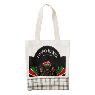 Jambo Kenya Leather Handle Zazzle HEART Tote bag