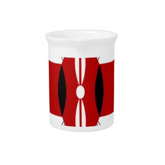Jambo Kenyan Flag Beverage Pitcher