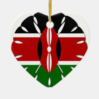 Jambo Kenyan Flag Ceramic Ornament