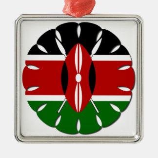 Jambo Kenyan Flag Metal Ornament