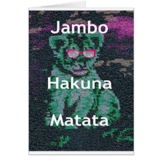 Jambo lion cub hakuna matata greeting card