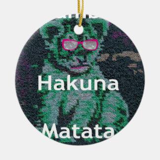 Jambo lion cub hakuna matata ceramic ornament