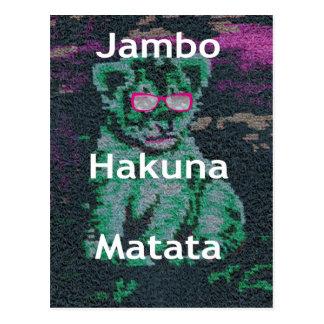 Jambo lion cub hakuna matata postcard