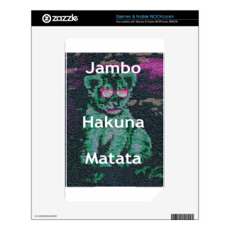 Jambo lion cub hakuna matata decal for the NOOK color