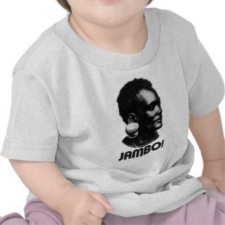 ¡JAMBO Saludo del suajili Camiseta