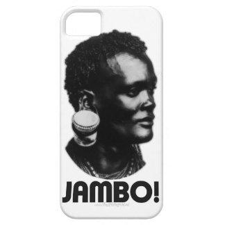 ¡JAMBO! Saludo del suajili iPhone 5 Case-Mate Fundas