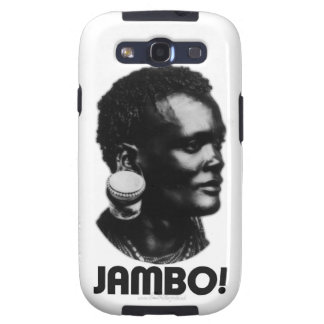¡JAMBO! Saludo del suajili Galaxy SIII Funda