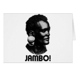 JAMBO! Swahili Greeting Card
