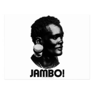 JAMBO! Swahili Greeting Postcard