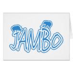 Jambo swahili Hello blue Card