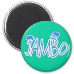 Jambo swahili Hello blue Magnet