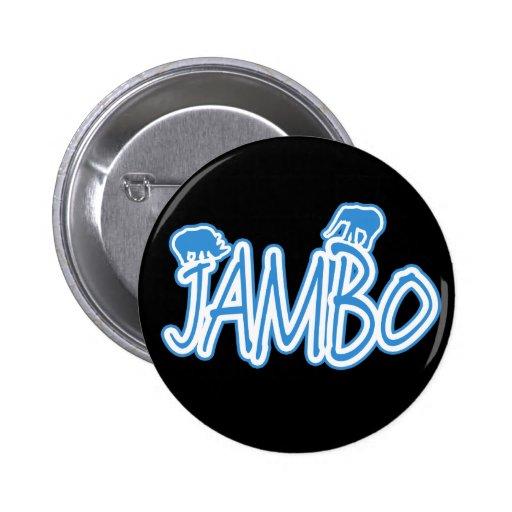 Jambo swahili Hello blue Pinback Buttons