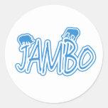 Jambo swahili Hello blue Sticker