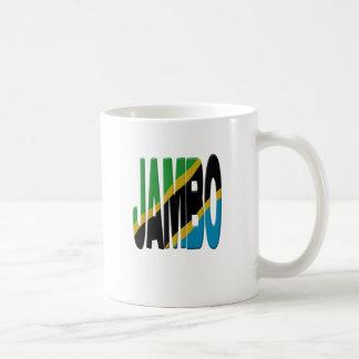 Jambo Swahili - Tanzania flag Coffee Mug