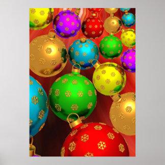 Jamboree colorido del ornamento del navidad posters