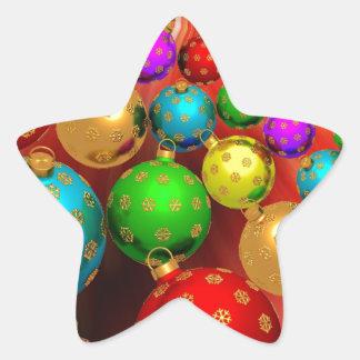 Jamboree del ornamento del navidad pegatina en forma de estrella