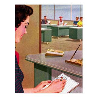 Jamboree retro de la oficina de los años 60 del tarjetas postales