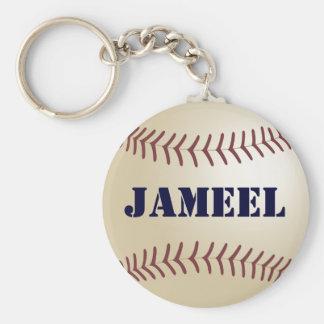 Jameel Personalized Baseball Keychain by 369MyName
