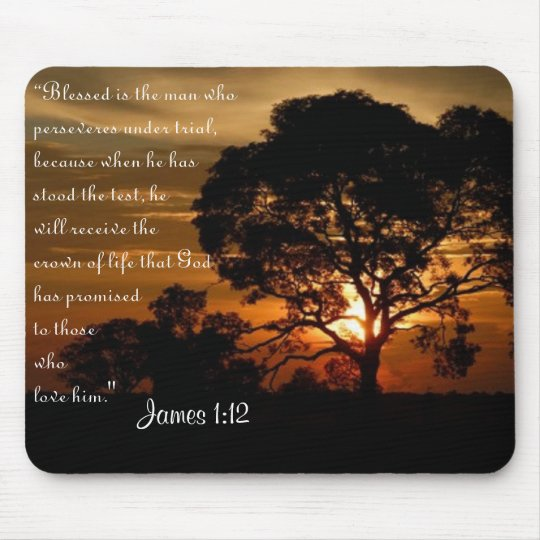 James 1:12 crown of life mouse pad