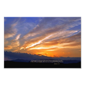 James 1:17 Every good and perfect gift Photo Print