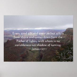 James 1:17 Poster print