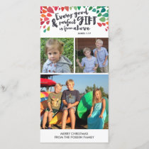 James 1:17 Religious Christmas Photo Card