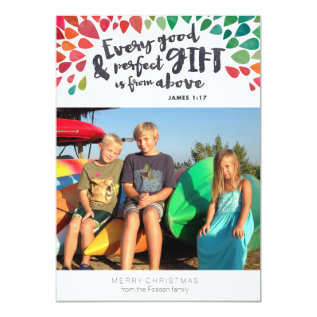James 1:17 Religious Photo Christmas Card at Zazzle