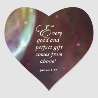 James 1:17 heart sticker