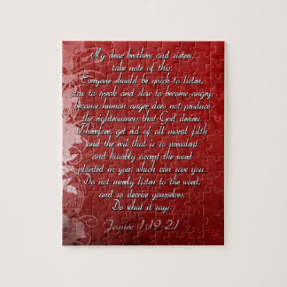 James 1:19 Scripture Gift Jigsaw Puzzle