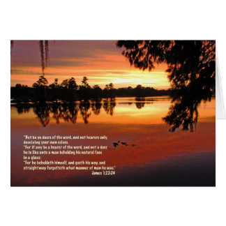 James 1:22-24 Scripture Greeting Card