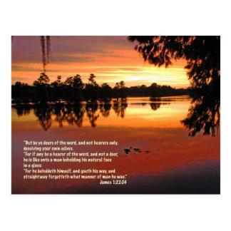 James 1:22-24 Scripture Postcard