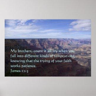 James 1:2-3 Poster print