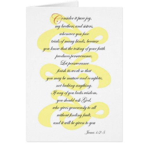 James 1:2-5 card