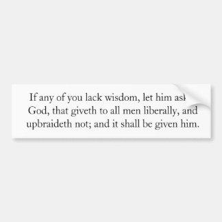 James 1:5 bumper sticker