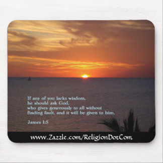 James 1:5  Sunset Mouse Pad