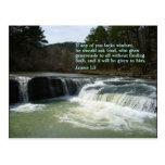 James 1:5  Waterfall Postcard