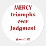 James 2-13 pegatina redonda