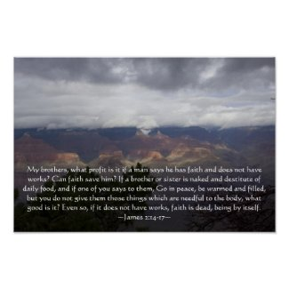 James 2:14-17 Poster print