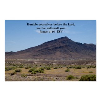 James 4:10 Poster print