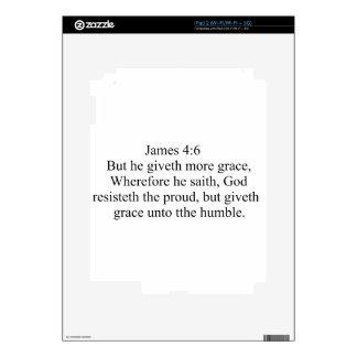 James 4:6 iPad 2 skins