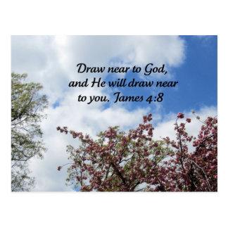 James 4:8 postcard